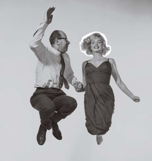 Philippe Halsman, with Marilyn Monroe in 1959, started asking all his subjects to jump as a way to loosen up